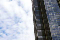 Skyscraper and blue sky. Skyscraper and sky Royalty Free Stock Images
