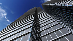 Skyscraper with blue sky Royalty Free Stock Photography