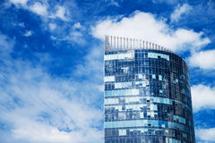 Skyscraper, blue sky with clouds. City, building Royalty Free Stock Photography