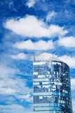 Skyscraper, blue sky with clouds. City, building Royalty Free Stock Images