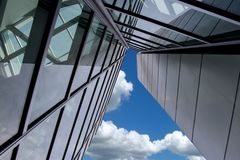 Free Skyscraper Blue Sky With Clouds Royalty Free Stock Photography - 109855617