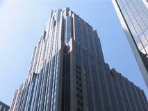 Skyscraper bricks glass Stock Images