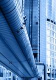 Skyscraper and bridge Stock Photo