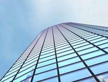 Skyscraper, building. Scayscraper 3d office blue building Royalty Free Stock Image