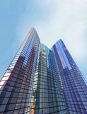 Skyscraper, building. 3 Scayscraper 3d office red blue green building Stock Images