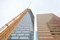 Skyscraper building construction, Calgary, Canada royalty free stock photography