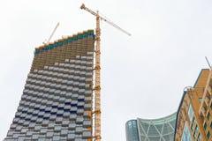 Skyscraper building construction, Calgary, Canada stock image