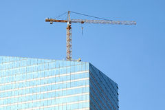 Skyscraper building construction in process Royalty Free Stock Image