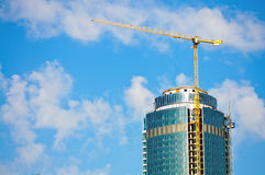Skyscraper building construction site Royalty Free Stock Photography