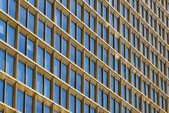 Skyscraper building exterior - window facade. / architectural pattern royalty free stock photo