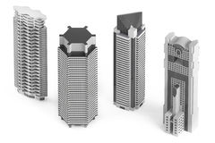 Skyscraper building isolated Royalty Free Stock Photo
