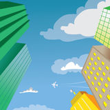 Skyscraper Building Perspective Vector Royalty Free Stock Photography