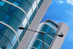 Skyscraper Building photograph. Photo of building for the outside Royalty Free Stock Photography