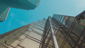 Skyscraper Building and Sky View stock video footage