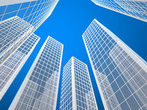 Skyscraper buildings Royalty Free Stock Photos