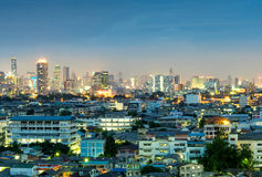 Skyscraper buildings in Bangkok under twilight sky Royalty Free Stock Photography