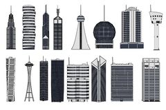 Skyscraper buildings Stock Photos