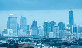 Skyscraper buildings in center of Bangkok Royalty Free Stock Photo