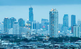 Skyscraper buildings in center of Bangkok Royalty Free Stock Image