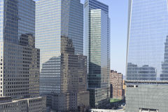 Skyscraper buildings in downtown New York City Royalty Free Stock Images
