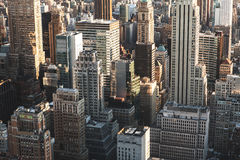 Skyscraper buildings in Manhattan New York City. Iconic view of the New York skyline royalty free stock photos