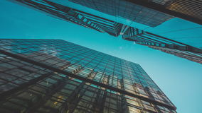 Skyscraper Buildings and Sky View stock footage