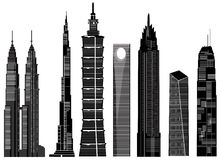 Skyscraper buildings vector 1 Royalty Free Stock Photography