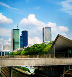 Skyscraper buildings in Warsaw Stock Photography