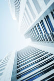 Skyscraper business center. The picture of the business center on a bright sunny day Stock Images