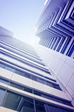 Skyscraper business center. The picture of the business center on a bright sunny day Royalty Free Stock Photo