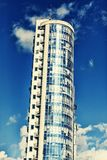 Skyscraper. Business, office, modern city, architecture, building, commercial, exterior, glass, urban, copy space Stock Image