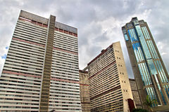 Skyscraper in the center of Caracas, Venezuela. Old residential buildings and skyscraper in the center of Caracas, Venezuela Royalty Free Stock Photo