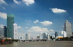Skyscraper and Chao Phraya River Bangkok cityscape, Thailand-2. Skyscraper and Chao Phraya River Bangkok cityscape, Thailand. Photo taken in november 2017 Stock Photography