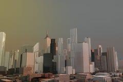 Skyscraper city Stock Photography