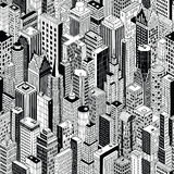 Skyscraper City Seamless Pattern - large Royalty Free Stock Photography