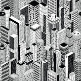 Skyscraper City Seamless Pattern - medium Stock Photos