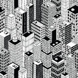 Skyscraper City Seamless Pattern - small Stock Photo