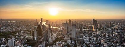 Thailand cityscape on sunset royalty free stock photo