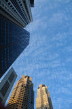 Skyscraper and cloud in the cities Stock Images
