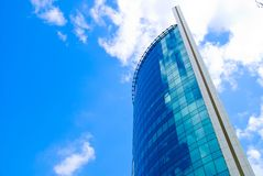Skyscraper and Clouds Stock Images