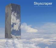 Skyscraper in the clouds Royalty Free Stock Photography