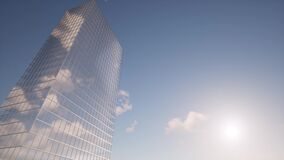Skyscraper clouds finance Building construction Blue sky