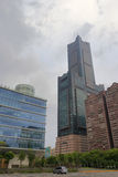 85 skyscraper at cloudy day Royalty Free Stock Image
