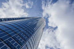 Skyscraper and Cloudy Sky Royalty Free Stock Photo