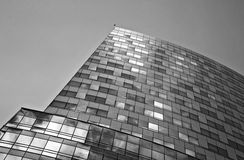Skyscraper. Clusters of s, downtown, glass facades, tall buildings, office buildings, apartment,warsaw royalty free stock images
