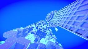 Skyscraper. Concept future city skyline. Futuristic business vision concept. 3d illustration. Royalty Free Stock Photos