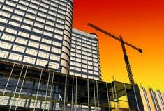 Skyscraper construction Stock Image