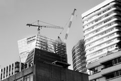 Skyscraper construction royalty free stock photography