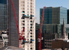 Skyscraper construction in Central London Stock Image