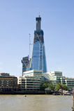 Skyscraper Construction, London. Construction of The Shard skyscraper in Southwark, South London Royalty Free Stock Images